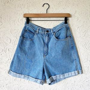 High Waisted Mom Denim Shorts | Vintage
